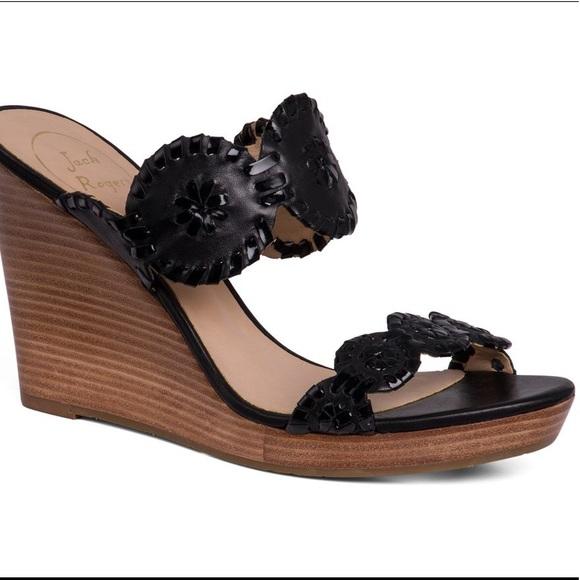 f2de3590fea Jack Rogers Shoes - Black Jack Roger Wedges